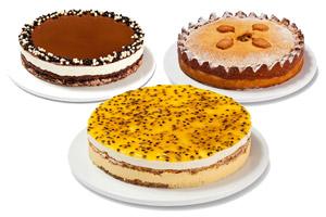 מבחר עוגות גדולות קרם, פאי וגבינה גדולות