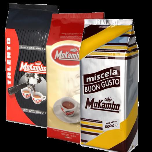 """3 ק""""ג קפה מוקמבו מעורב - Caffe Mokambo Mix"""