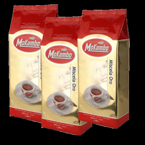 """3 ק""""ג קפה מוקמבו אורו - Caffe Mokambo Oro"""