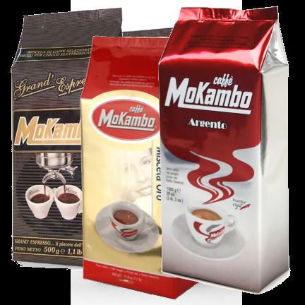 3 שקיות 500 גרם קפה מוקמבו מעורב - Caffe Mokambo Mix