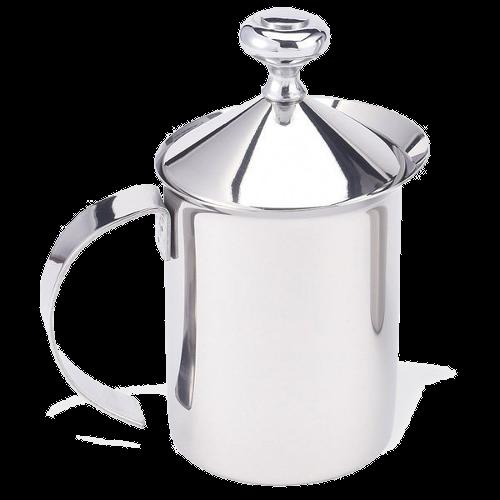 מקציף חלב ידני מנירוסטה 0.8 ליטר נירוסטה