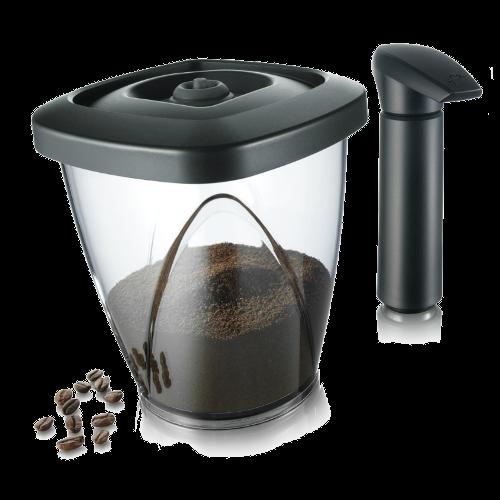 קופסה לאחסון קפה בוואקום ומשאבה Vacu-Vin