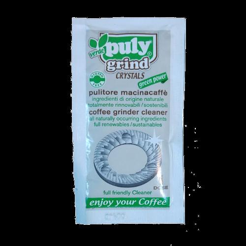 שקית עם חומר קריסטלי לניקוי מטחנת קפה