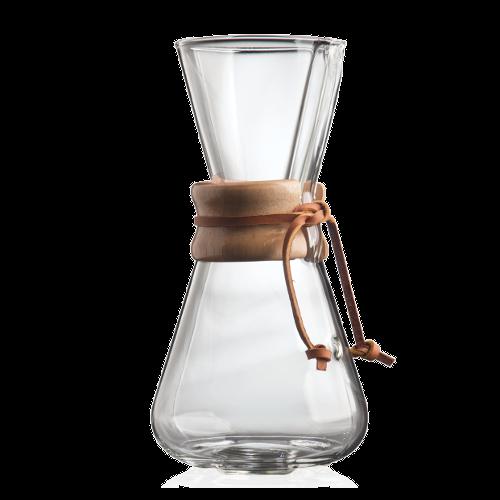 קנקן קמקס קלאסי ל-3 כוסות עם חבק עץ