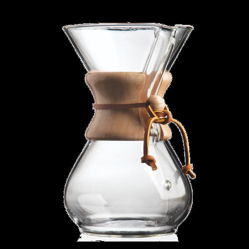 קנקן קמקס קלאסי ל-6 כוסות עם חבק עץ