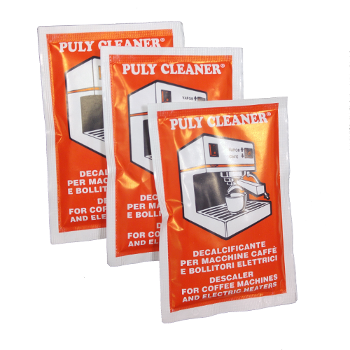 3 שקיות אבקה לניקוי אבנית ממכונת אספרסו Puly