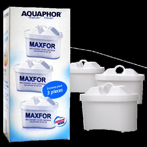 3 פילטרים Aquaphor Maxfor B-100-25  - מתאים גם לקנקי בריטה