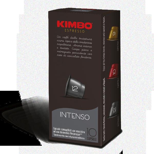 קפסולות תואמות נספרסו® קימבו אינטנסו 10 יחידות KIMBO Intenso