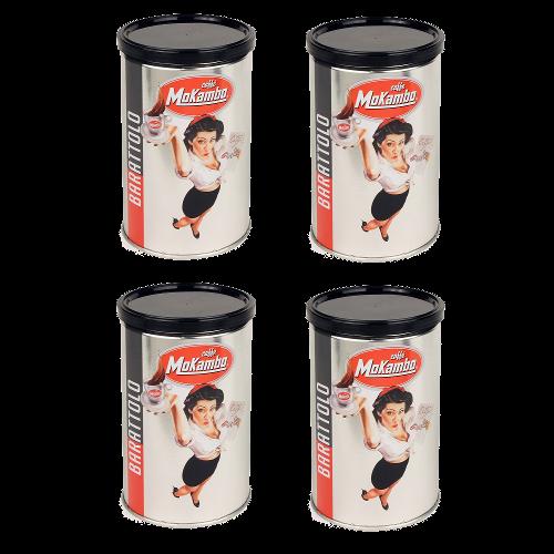 4 פחיות קפה טחון מוקמבו 250 גרם Barattolo