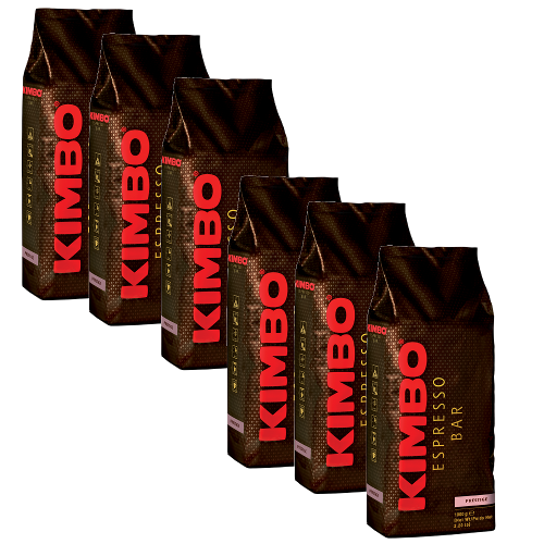"""6 ק""""ג פולי קפה קימבו פרסטיג' Kimbo  Prestige"""