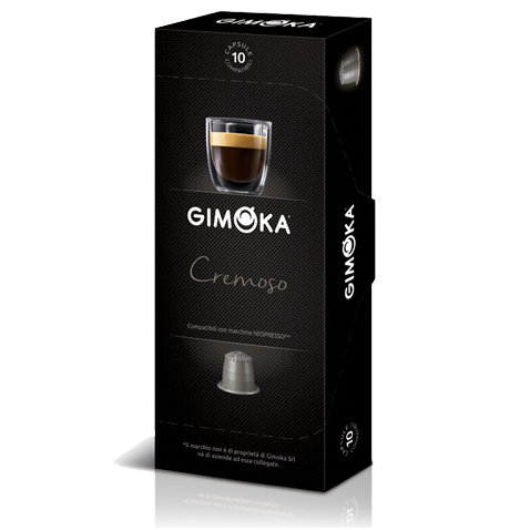 10 קפסולות Gimoka Cremoso תואם נספרסו