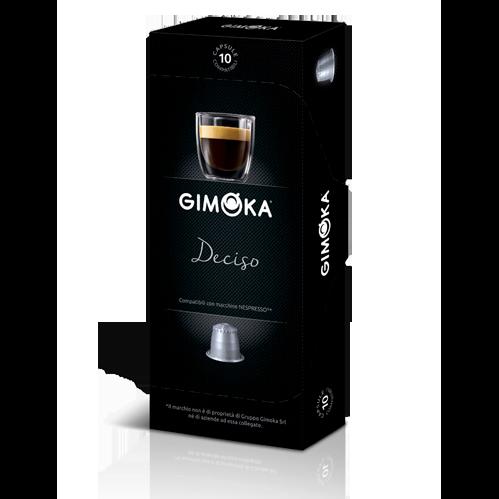 10 קפסולות Gimoka Deciso תואם נספרסו