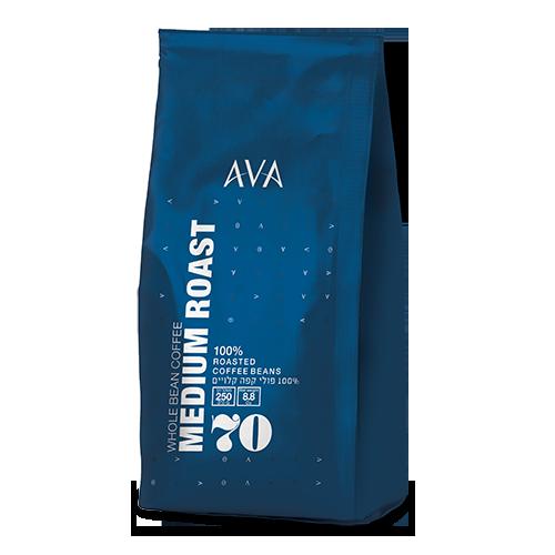 250 גרם פולי קפה 70% ערביקה
