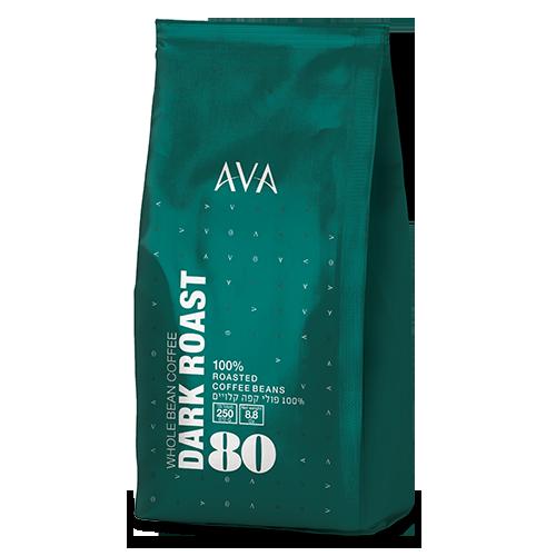 250 גרם פולי קפה 80% ערביקה