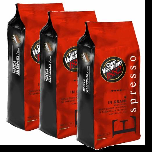 """3 ק""""ג פולי קפה Espresso Vergenano 1882"""