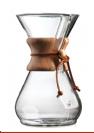 קנקן קמקס קלאסי ל-8 כוסות עם חבק עץ