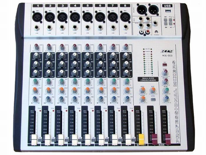 מיקסר 8 ערוצים MX-800 MP3 BTS