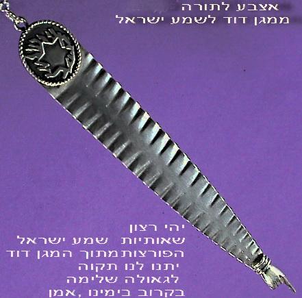 Magen Shema Torah finger