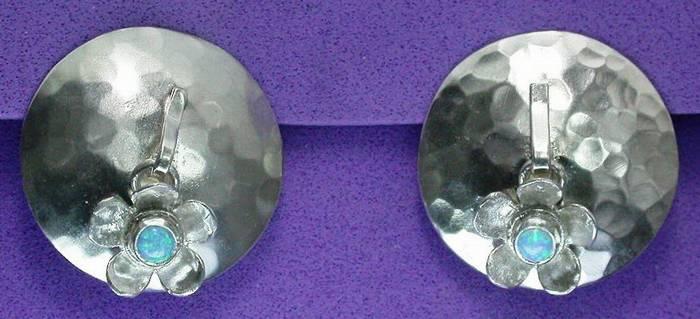Dark Flower Silver Earrings