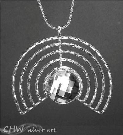 Swarovsky hoops pendant