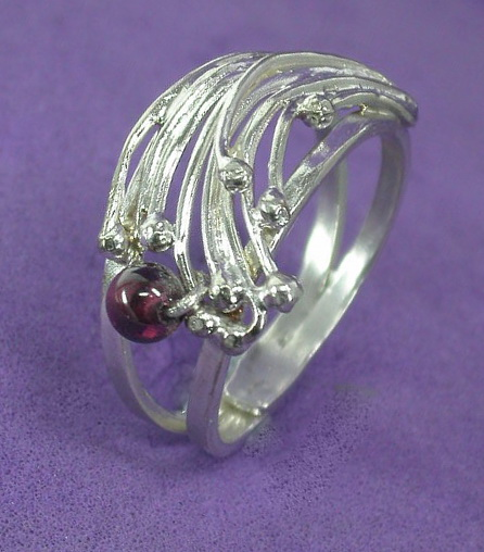 Garnet Splash Ring