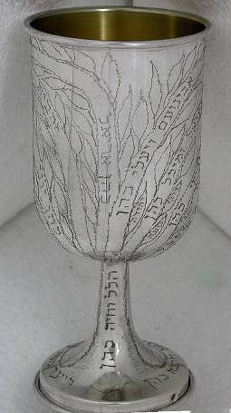 Family Tree Kiddush Goblet
