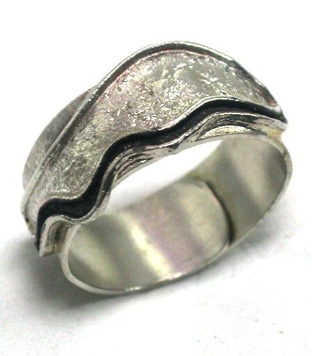 טבעת כסף גלי הים