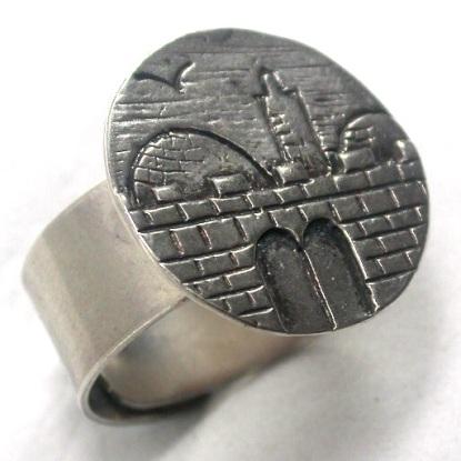 """טבעת כסף """"שערי ירושלים"""""""