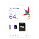 כרטיס זיכרון ADATA Class 10 64GB Micro SD