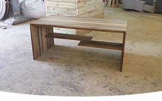 שולחן לסלון, אגוז אפריקאי