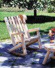 כסא נדנדה מעץ לוגים