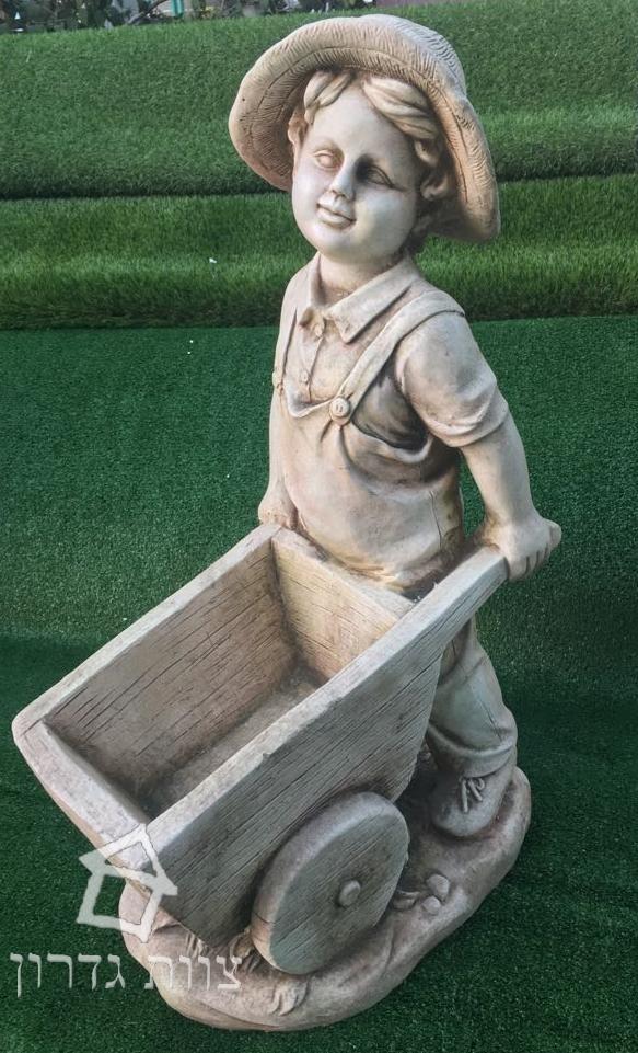 מבחר דמויות מפוסלות ומזרקות דמוי אבן- צוות גדרון