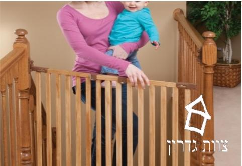 שער בטיחות לתינוק במראה כפרי- צוות גדרון