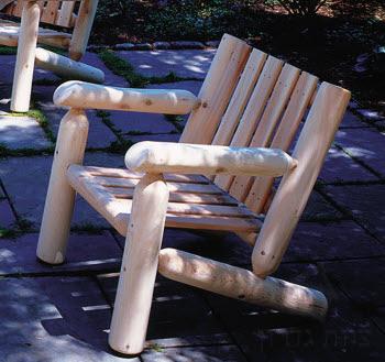 כורסת יחיד מעץ לוגים קנדי - צוות גדרון