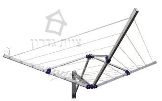 מתקן כביסה מתקפל קומפקטי למרפסת - צוות גדרון