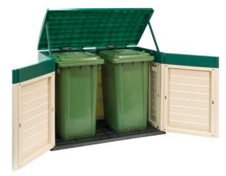 מחסן לפחי האשפה בחצר 41-811 - צוות-גדרון