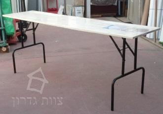 לוח עץ מחובר לרגליים מתקפלות לשולחן - צוות-גדרון