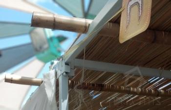 מוטות במבוק חתוכים לסוכת ירושלים - צוות-גדרון
