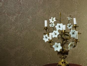 טפט מונוכרומי מודרנים דגם פרחים - צוות גדרון