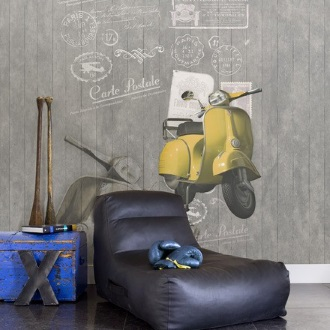 טפט וספה וינטאג' לעיצוב חדר נוער - צוות-גדרון