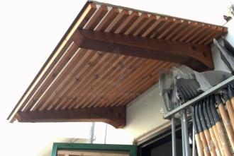 גגון דקורטיבי מעץ - צוות גדרון