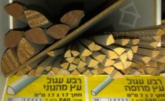 פרופילים עץ רבע עיגול - צוות גדרון