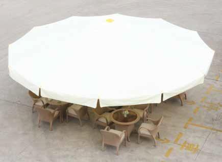 שמשית ענק 7 מטרים פתוחה במסעדה - צוות גדרון