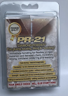 """PR-21 אבקת יהלום להדבקה איטום ו""""ריתוך"""""""