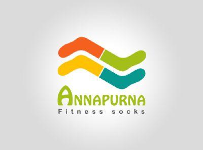 עיצוב לוגו  Annapurna socks - סטודיו גלית מועלם