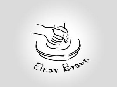 עיצוב לוגו לעינב בראון קרמיקה - סטודיו גלית מועלם