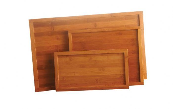 מכסה/מגש עץ במבוק