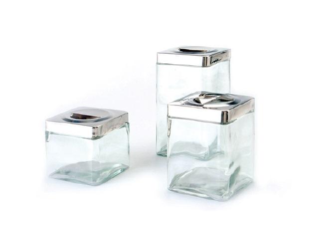 צנצנת זכוכית מרובע