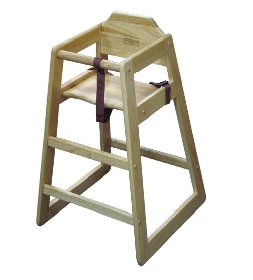 כסא עץ לתינוק נטורל  HC-N