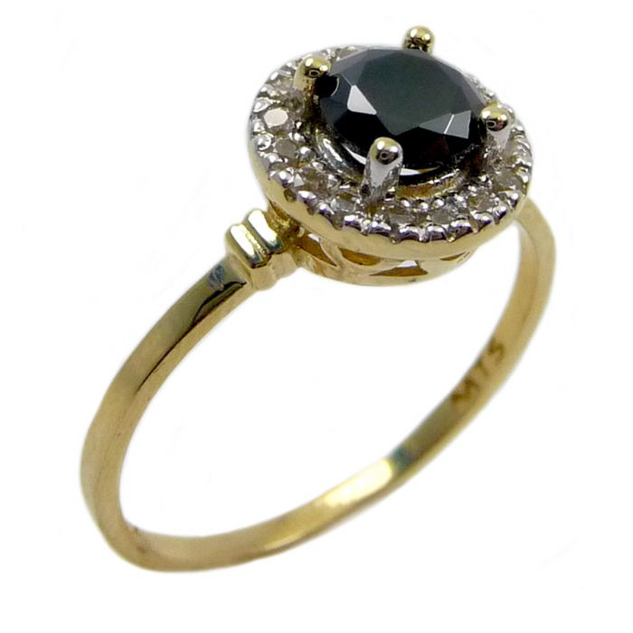 טבעת דיאנה זהב 14K עגולה משובצת אבן אוניקס